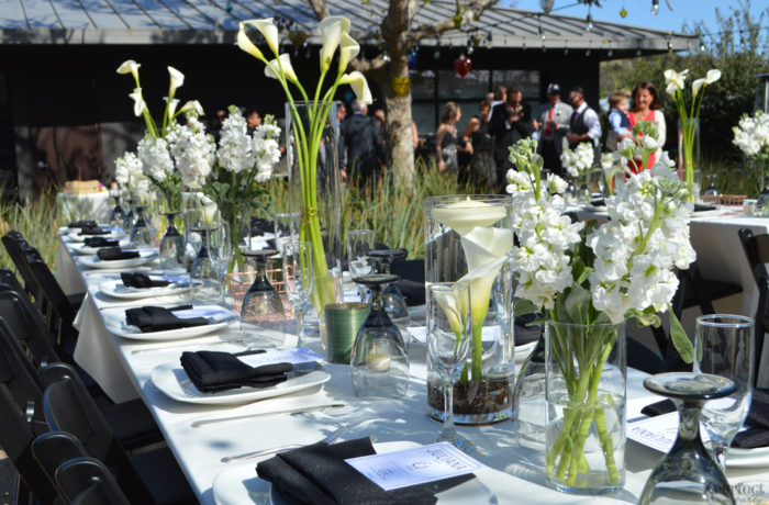 Modern Black and White Tablescape