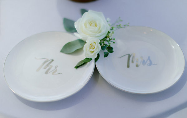 Wedding plate setting Carlsbad
